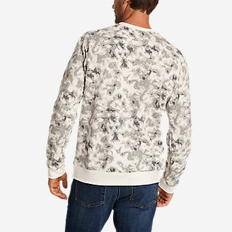 Thumbnail View 2 - Men's Camp Fleece Crew Sweatshirt - Print