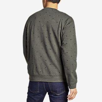 Thumbnail View 2 - Men's Camp Fleece Crew Sweatshirt - Print