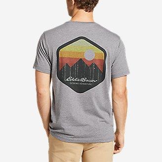 Thumbnail View 2 - Men's Graphic T-Shirt - Gradient Sunset