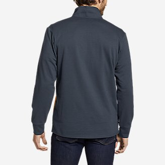 Thumbnail View 2 - Men's Camp Fleece 1/4-Zip - Color Block