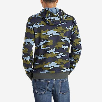 Thumbnail View 2 - Men's Camp Fleece Pullover Hoodie - Pattern
