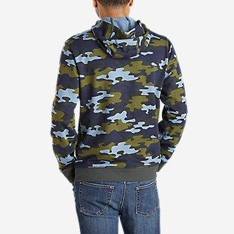 Thumbnail View 2 - Men's Camp Fleece Pullover Hoodie - Pattern