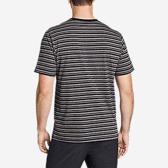 Thumbnail View 2 - Men's Novelty Stripe Short-Sleeve T-Shirt