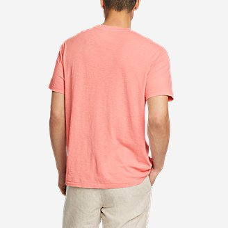 Thumbnail View 2 - Men's Earth Wash Slub Short-Sleeve Pocket T-Shirt