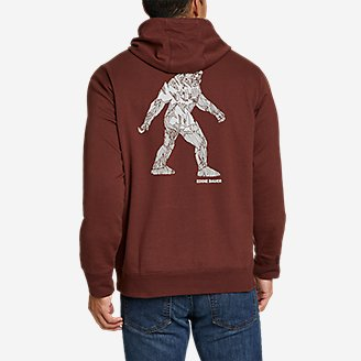 Thumbnail View 2 - Men's Camp Fleece Pullover Hoodie - Graphic