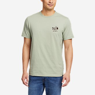 Thumbnail View 2 - Men's Graphic T-Shirt - Camp Under The Stars