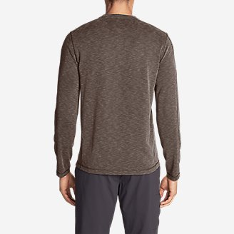 Thumbnail View 2 - Men's Contour Long-Sleeve Henley Shirt