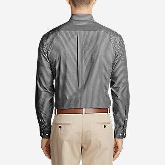 Thumbnail View 2 - Men's Wrinkle-Free Pinpoint Oxford Classic Fit Long-Sleeve Shirt - Seasonal Pattern