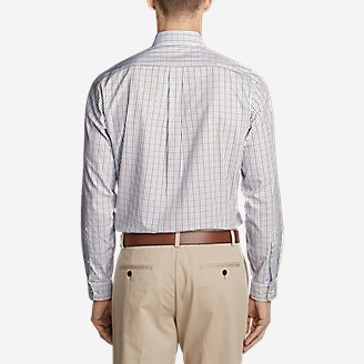 Thumbnail View 2 - Men's Wrinkle-Free Pinpoint Oxford Classic Fit Long-Sleeve Shirt - Seasonal Pattern