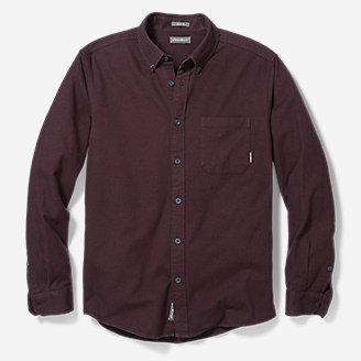 Thumbnail View 3 - Men's Eddie's Favorite Flannel Classic Fit Shirt - Solid