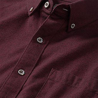 Thumbnail View 3 - Men's Eddie's Favorite Flannel Classic Fit Shirt - Solid
