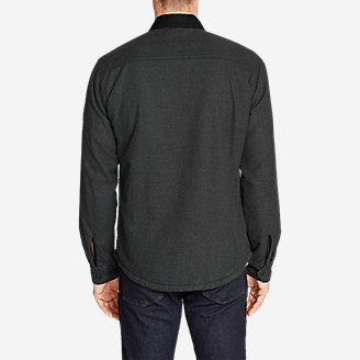 Thumbnail View 2 - Men's Eddie's Favorite Flannel Sherpa-Lined Shirt Jacket