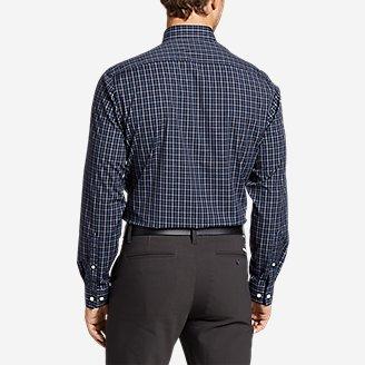 Thumbnail View 2 - Men's Flex Wrinkle-Free Classic-Fit Shirt - Blues