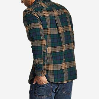 Thumbnail View 2 - Men's Eddie's Favorite Flannel Mixed Media Shirt