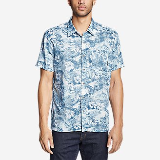 Thumbnail View 3 - Men's Larrabee Short-Sleeve Shirt - Print