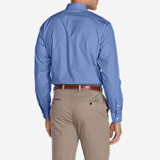Thumbnail View 2 - Men's Wrinkle-Free Classic FIt Pinpoint Oxford Shirt - Solid
