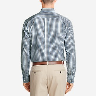 Thumbnail View 2 - Men's Wrinkle-Free Classic Fit Pinpoint Oxford Shirt - Blues