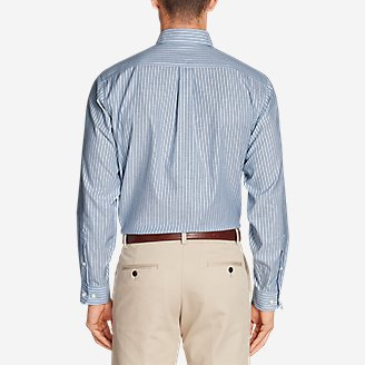 Thumbnail View 2 - Men's Wrinkle-Free Relaxed Fit Oxford Cloth Shirt - Pattern