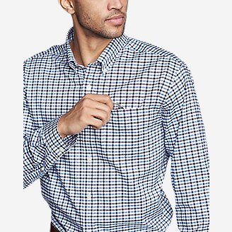 Thumbnail View 3 - Men's Wrinkle-Free Relaxed Fit Oxford Cloth Shirt - Pattern