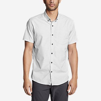 Thumbnail View 3 - Men's On The Go Short-Sleeve Poplin Shirt