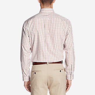 Thumbnail View 2 - Men's Wrinkle-Free Pinpoint Oxford Relaxed Fit Long-Sleeve Shirt - Seasonal Pattern