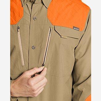 Thumbnail View 3 - Men's Field Guide Flex Long-Sleeve Shirt - Blaze