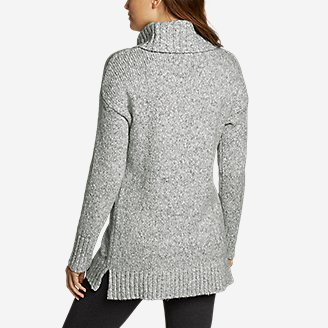 Thumbnail View 2 - Women's Turtleneck Sleep Sweater