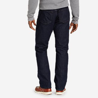 Thumbnail View 2 - Men's Field Flannel-Lined Flex Straight Jeans
