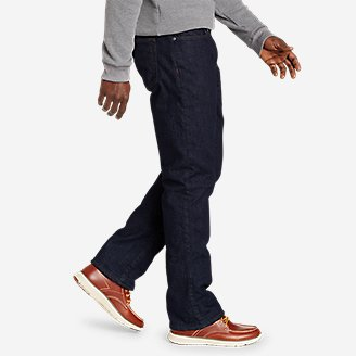 Thumbnail View 3 - Men's Field Flannel-Lined Flex Straight Jeans
