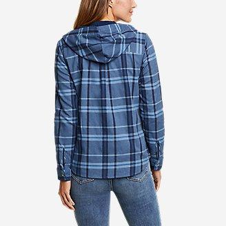 Thumbnail View 2 - Women's Field FLannel Hooded Shirt-Jacket