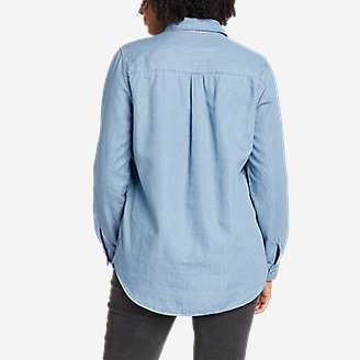 Thumbnail View 2 - Women's Halcyon Long-Sleeve Popover Shirt - Solid