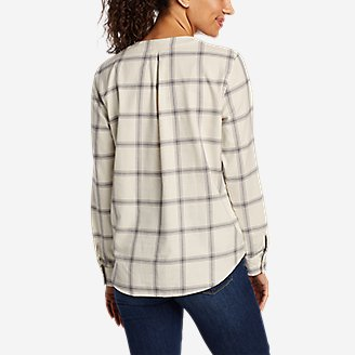 Thumbnail View 2 - Women's Field Flannel V-Neck Popover Shirt