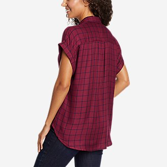 Thumbnail View 2 - Women's Halcyon Short-Sleeve Shirred Shirt