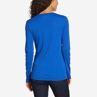 Thumbnail View 2 - Women's Stine's Long-Sleeve V-Neck T-Shirt