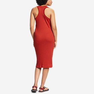Thumbnail View 2 - Women's Coast and Climb Rib-Knit Sleeveless Dress - Solid