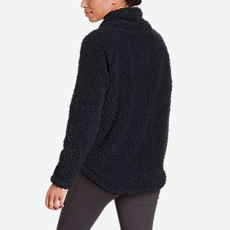 Thumbnail View 2 - Women's Campfire Plush Pullover Shirttail Funnel Neck