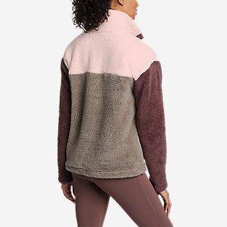 Thumbnail View 2 - Women's Fast Fleece Plush Snap-Mock - Color Block