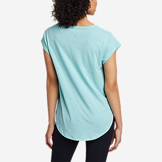 Thumbnail View 2 - Women's Tryout Short-Sleeve V-Neck T-Shirt - Solid