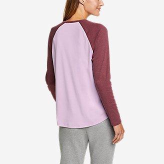 Thumbnail View 2 - Women's Favorite Raglan Color-Blocked T-Shirt
