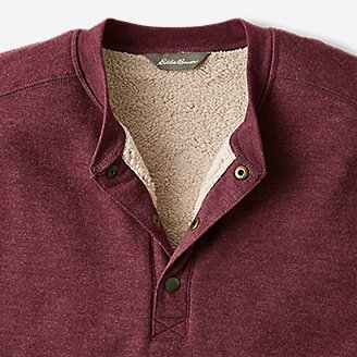 Thumbnail View 3 - Men's Everyday Fleece Sherpa-Lined Henley