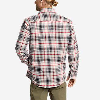 Thumbnail View 2 - Men's Eddie's Field Flannel Fleece-Lined Shirt Jacket