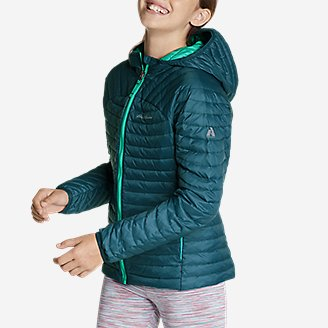 Thumbnail View 3 - Girls' MicroTherm® Hooded Jacket