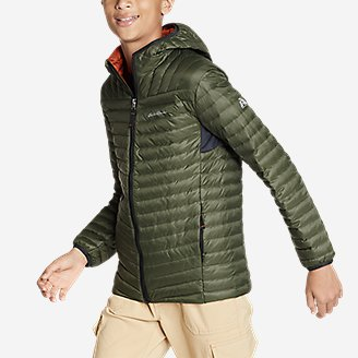 Thumbnail View 3 - Boys' MicroTherm® Hooded Jacket