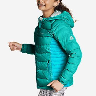 Thumbnail View 3 - Girls' Downlight® Hooded Jacket
