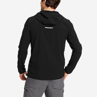 Thumbnail View 2 - Men's Sandstone Light Soft Shell 1/2-Zip Hoodie