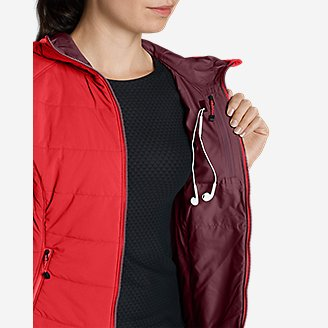Thumbnail View 3 - Women's IgniteLite Flux Stretch Hooded Jacket
