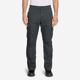 Thumbnail View 1 - Men's Flannel-Lined Cargo Pants