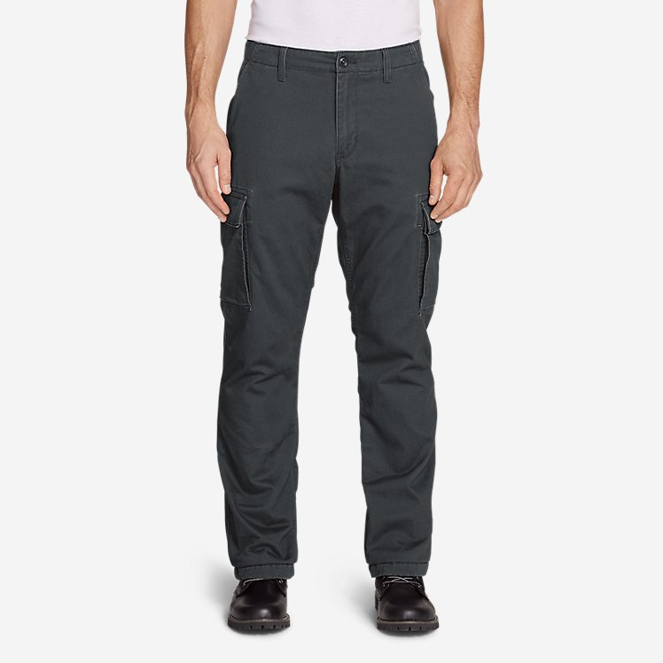 Men's Flannel-Lined Cargo Pants large version