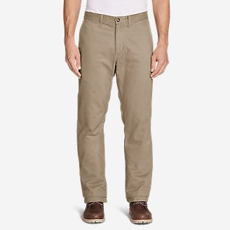 Thumbnail View 1 - Men's Flannel-Lined Chinos