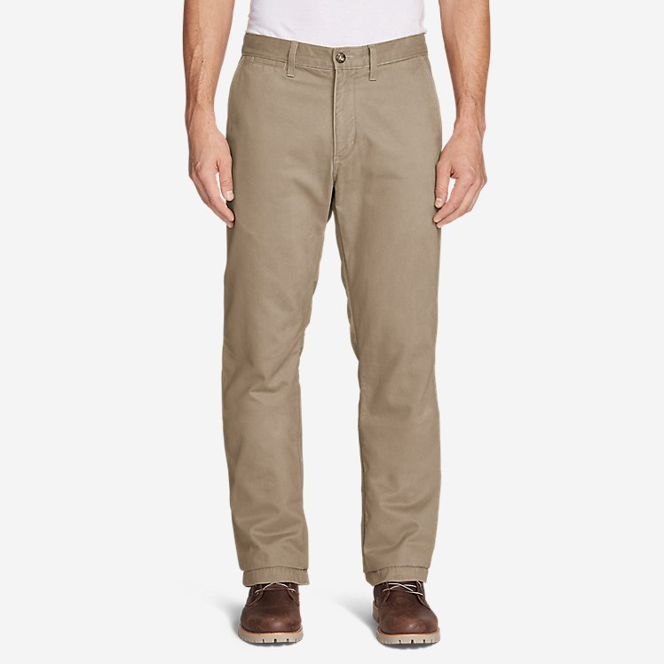 Men's Flannel-Lined Chinos large version